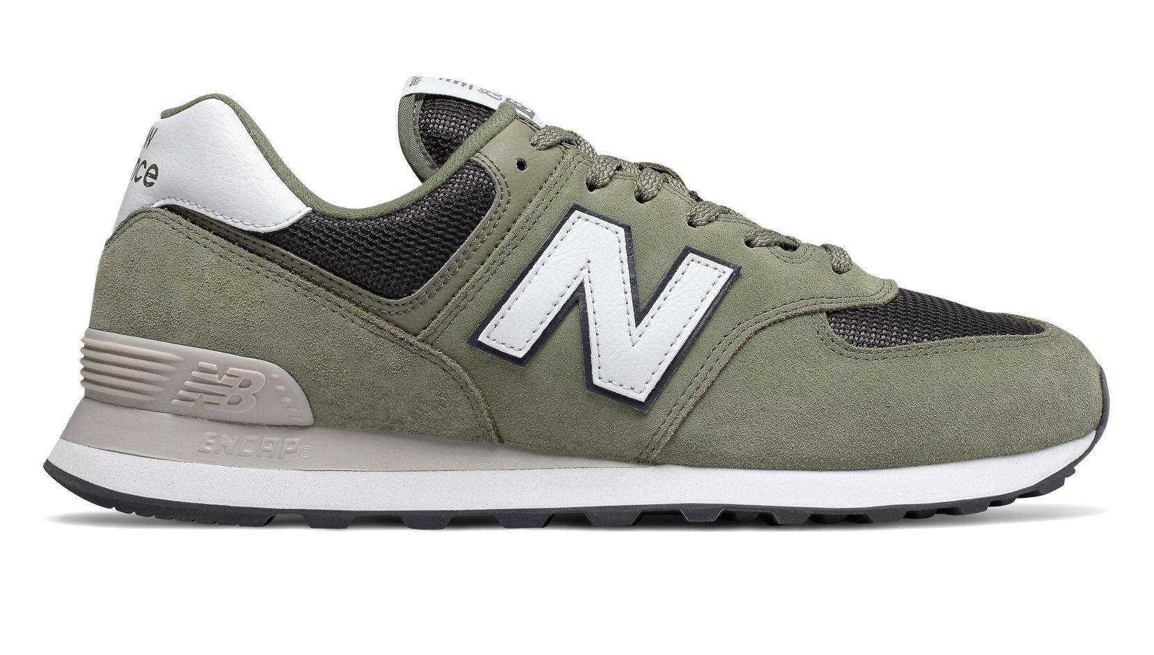 Sneakers Verde 574 Uomo Scarpe Nuova Balance New Camosciomesh Lc5R4Aj3q