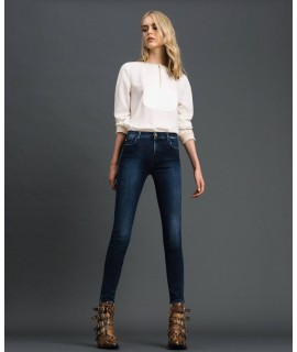 TWINSET JEANS SKINNY DENIM BLUE