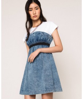 TWINSET ABITO ALL IN ONE DENIM BLUE