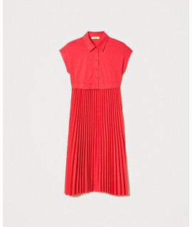TWINSET ABITO CORPETTO + GONNA PLISSE' CORAL KISS