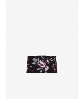 LIU JO BORSA CLUTCH MAGENTA MIXED EMBROIDED FLOWERS