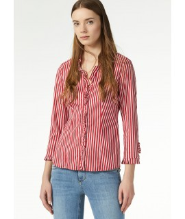 LIU JO CAMICIA ROUCHES ROUGE MICRO STRIPES