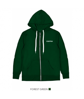 HAPPINESS UOMO FELPA HAPPYZIP FOREST GREEN