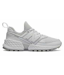 NEW BALANCE DONNA SCARPE SNEAKERS 574 SPORT BIANCHE