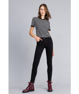 MY TWIN TWINSET JEANS SKINNY CON STRASS NERO