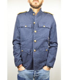DENIM & SUPPLY RALPH LAUREN GIUBBOTTO GIACCA BLU