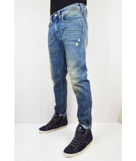 CYCLE JEANS STRETTO CON ABRASIONI E VENATURE