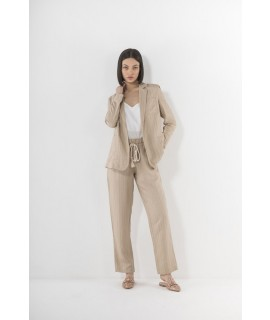 MARK UP DONNA COMPLETO TAILLEUR GESSATO LUREX SABBIA