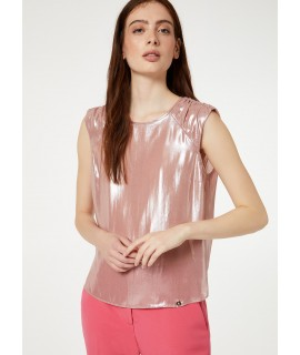 LIU JO TOP LAMINATO PEARL ROSE