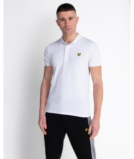 LYLE & SCOTT POLO SLIM STRETCH BIANCO