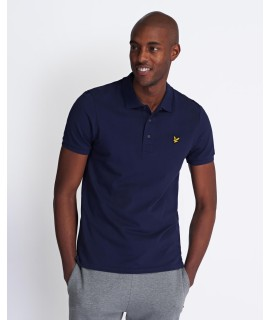 LYLE & SCOTT POLO SLIM STRETCH BLU