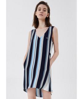 LIU JO SPORT ABITO CORTO RIGHE ST. RIGA/DRESS BLUE