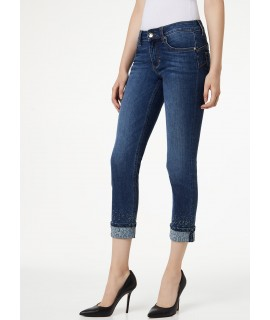LIU JO JEANS BOTTOM UP MONROE VITA REGOLARE DENIM BLUE EXPLOSION WASH
