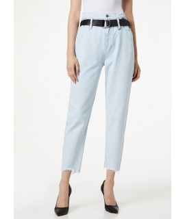 LIU JO JEANS CANDY VITA ALTA DENIM BLUE BLEACH WASH