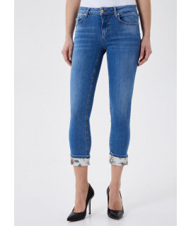 LIU JO JEANS BOTTOM UP MONROE VITA REGOLARE DENIM BLUE NAUTHIZ PAI