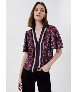 LIU JO BLUSA SCOLLO V FULL FLOWERS