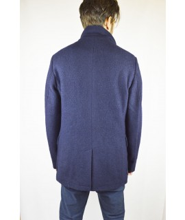 SCOTCH & SODA CAPPOTTO IN LANA COTTA DOPPIOPETTO BLU