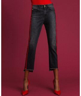 TWINSET JEANS GIRLFRIEND BANDE NERO