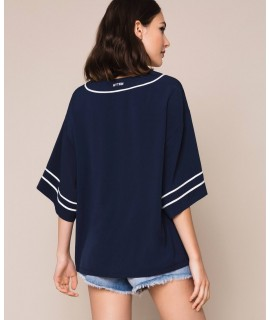 "TWINSET BLUSA ""DREAMER"" INDACO"