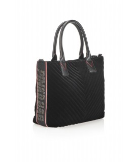 PINKO BORSA SHOPPING MEDIA PINKO BAG ADAMS NERO