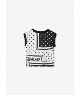 LIU JO BLUSA BLACK & WHITE GRAPHICS COLORS