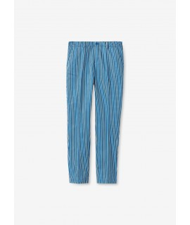 LIU JO PANTALONI RIGHE BLUE MICRO STRIPES