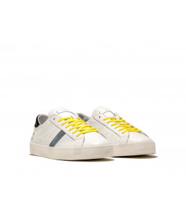 DATE UOMO SCARPE SNEAKERS HILL LOW FLUO WHITE-BLACK
