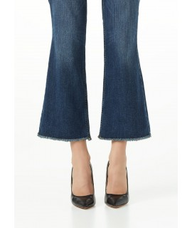 LIU JO JEANS BOTTOM UP MICROFLAIR VITA REGOLARE DENIM BLUE EVENT WASH