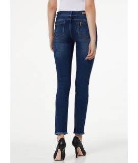 LIU JO JEANS BOTTOM UP DIVINE VITA ALTA DENIM BLUE FRONT WASH