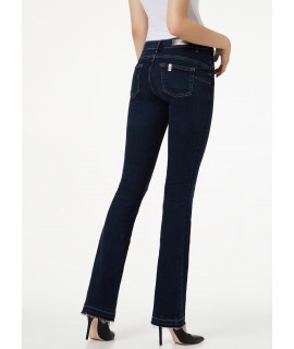 LIU JO JEANS BOTTOM UP REPOT VITA REGOLARE DENIM BLUE REALITY WASH