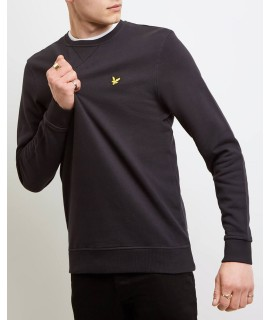 LYLE & SCOTT FELPA GIROCOLLO NERO