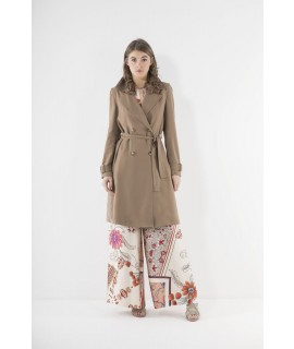 MARKUP DONNA TRENCH FLUIDO TABACCO