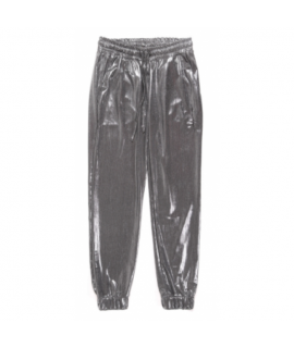 HAPPINESS DONNA PANTALONE LAME' PEGGY ARGENTO