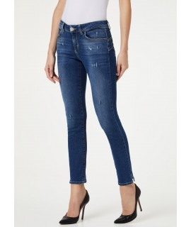 LIU JO JEANS BOTTOM UP CLASSY VITA REGOLARE DENIM BLUE FAVOR WASH