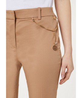 LIU JO PANTALONE MICROFLARE BISCUIT COOKIE