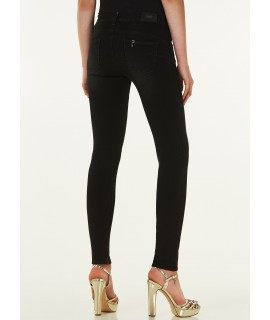 LIU JO JEANS FABULOUS VITA REGOLARE AMAZING FIT ISKO DENIM BLACK LOFTY WASH